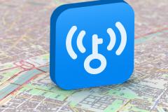 """WiFi万能钥匙""""一键连接""""江苏电信aWiFi百万热点"""